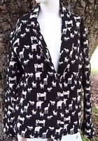 Womens CHICOS Tribal Animal Print Tapestry Jacket Woven Size Small 100% Cotton 0