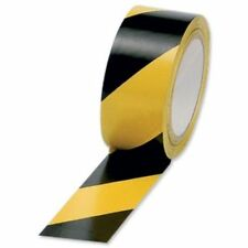 "50mm 2"" Black and Yellow Self Adhesive Hazard Warning Safety Tape 33m rolls"