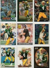 9 card Brett Favre lot,with RC and more,all different