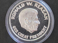 Ronald W. Reagan Cinema & Television Actor .999 Silver Art Round D6428