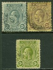 EDW1949SELL : ST VINCENT Sc #106, 08, 10. All Used with neat cancels. Cat $67.50