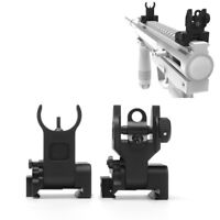 Flip up Front&Rear Iron Sight Set BUIS Sights 20mm Mount for Gun Rifle Mil Spec