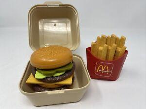 Vintage 1988 McDonalds Fisher Price Play Food - Big Mac & Fries - Complete