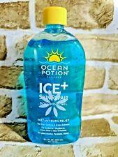 Ocean Potion Ice & Skin Repair Instant Burn Relief Aloe Vera Gel 20.5 fl oz New