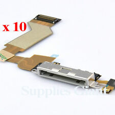 New Charging Port Dock Connector Flex Cable For iPhone 4S White US Lot 10