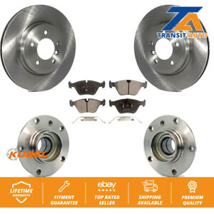Front Hub Bearing Assembly With Disc Brake Rotors And Pads Kit BMW 330Ci 330i Z4