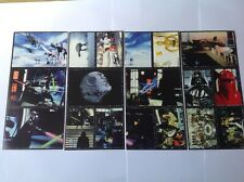 STAR WARS 1996 8 uncut panini sticker sheets