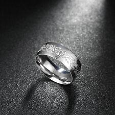 Man and woman 316L fashion pattern titanium steel men's steel ring size10 #W006