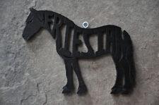 Friesian Horse Wood Christmas Ornament Tack Room Decoration