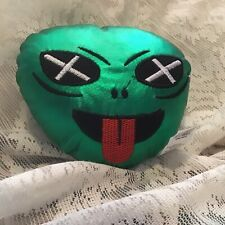 5�x 5� Green Alien Plush Pillow