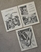 Antique 1952 Harley Dealer Factory Photo Model 125 S Hummer Brochure Poster