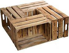 4 piezas flameadas NUEVOS cajas de fruta ELFRIEDE Vino Madera manzana