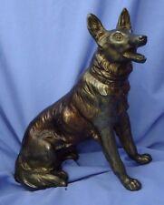 """bronze 11"""" GERMAN SHEPHERD ALSATIAN  BELGIAN MALINOIS dog"""