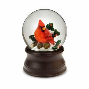 The San Francisco Music Box Company Hand Crafted Cardinal Snow Globe