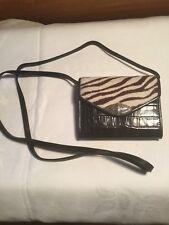 Brighton Mini Lola Zebra Hair Accordian Shoulder Bag Wallet