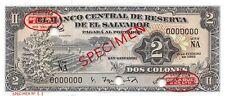 El Salvador  2  Colones  15.2.1962  P 101as  Series  NA  Uncirculated Banknote