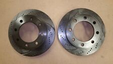 "(FRONT SET) 54078DS Sport Dimple Slotted Brake Disc Rotor (8 wheel bolt & 13"")"