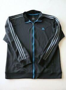 ADIDAS Climalite Clima 365 Full Zip Jacket Size XL - Black / Blue