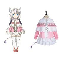 Miss Kobayashi-san Dragon Maid Kanna Kamui Dress Cosplay Costume Dress Shoes Wig