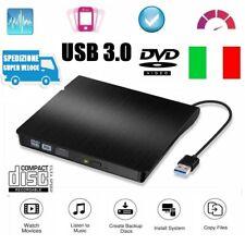 Masterizzatore DVD Esterno USB 3.0 Lettore Portatile per Pc Notebook Windows Mac