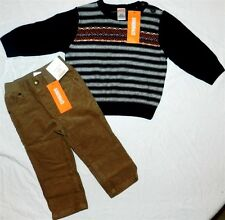 Brown Pant Sweater Set Gymboree 4pc Winter Boy size 12-18 month New