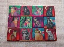 Ceramic Mosaic Tiles - 12 Piece Mixed Set - Funky Cats Mixed Designs Mosaic