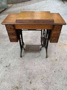 Vintage 1939 Singer Treadle Sewing Machine on Cast Iron Stand
