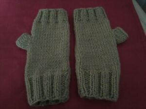 Handmade Hand-knitted wrist warmer, Fingerless Gloves, Fingerless Mittens
