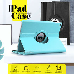 """360° Rotate Leather Case Cover For Apple iPad Air 1st 2nd iPad 5th 6th Gen 9.7"""""""
