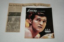 1970 Los Angeles Lakers Playoff PROGRAM + CLIPPINGS * vs Phoenix Suns - Game 7