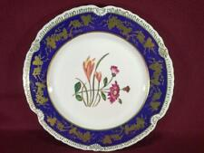 "#7 CHELSEA HOUSE K494 FLORAL DECORATIVE DINNER PLATE 10.75"" - COBALT/GOLD"