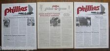 "Philadelphia ""Phillies Phan-O-Gram"" Newsletters: (3) 11/1979, 12/1989, 1/1991"