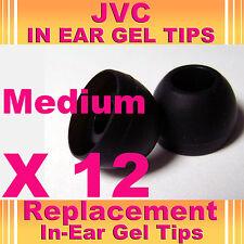 12 Jvc en auriculares auriculares auriculares auriculares de gel Tips Mediano
