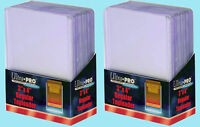50 Ultra Pro 3x4 REGULAR TOPLOADERS NEW Rigid Clear Standard Size Card Sleeves