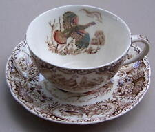 Johnson Brothers Windsor Ware Wild Turkeys Cup and Saucer Set ENGLAND