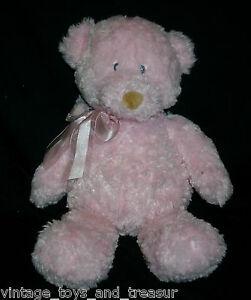 "14"" GUND 46651 PINK BABY TEDDY BEAR STUFFED ANIMAL PLUSH TOY SOFT NOISE SOUND"
