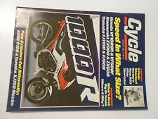 AUGUST 1985 CYCLE MAGAZINE,YAMAHA XJ700,BMW K100,KAWASAKI 454LTD,HONDA VF500F,