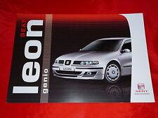 """SEAT Leon """"Genio"""" Sondermodell Prospekt von 2004"""