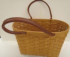 Longaberger Large Boardwalk Basket Set Purse Tote RETIRED New