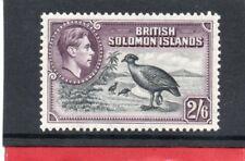 Solomon Isles GV1 1939 2/6 black & violet sg 70 VLH.Mint