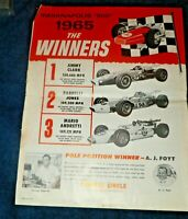 1965 Indianapolis 500 Winners Perfect Circle Print Ad-Clark, Jones, Andretti
