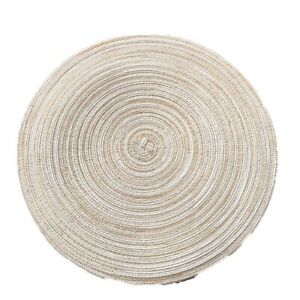 Set Round Woven Table Mat Heat Insulation Placemat Coaster Non-Slip Place Mats