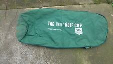 housse pour sac de golf Tag Heuer Porsche golf Cup travel cover en toile verte