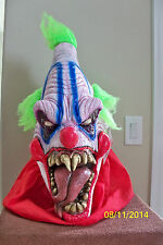 ADULT BIG TOP EVIL SCARY CRAZY CLOWN LATEX MASK COSTUME TA398