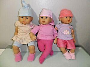 """Zapf 3 14"""" soft bodied dolls"""