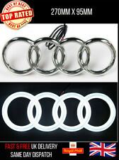 AUDI LED EMBLEM LIGHT FRONT GRILL GLOW LOGO BADGE RINGS WHITE A1 A3 A4 A5 A6