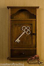 """""""il tasto"""" cassetto in legno marrone chiaro 6 chiavi di casa Hanger Holder ganci per Armadio"""