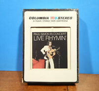PAUL SIMON IN CONCERT LIVE RHYMIN' STEREO 8 TRACK TAPE CARTRIDGE TESTED