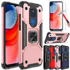 For Motorola Moto G Play 2021 Case Shockproof Ring Stand Cover/Screen Protector