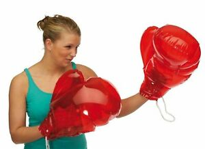 Inflatable Boxing Gloves, New, Stocking Fillers, Keep Fit ** PAIR **